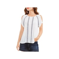 7a64ac586efbcb Shop Two by Vince Camuto Womens Casual Top Heathered Cold Shoulder ...