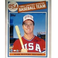 Mark McGwire 1984 Topps USA Baseball Card 16x20