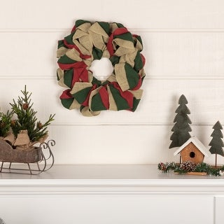 Link to Farmhouse Christmas Holiday Decor VHC Burlap Wreath Wreath Twine Jute Similar Items in Decorative Accessories