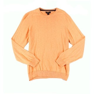 Club Room NEW Orange Melon Mens Size Large L Crewneck Silk Sweater