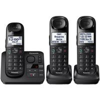 Panasonic KX-TGL433B Cordless Phone with Answering Machine - 3 Handsets (Refurbished)