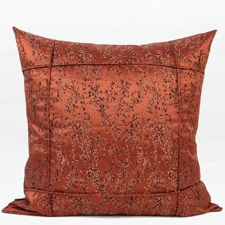 """G Home Collection Luxury Red Brown Abstract Pattern Frame Jacquard Pillow 22""""X22"""""""