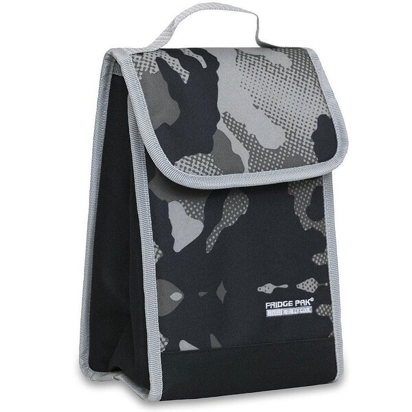 Fridge Pak Camo Print Tall Lunch Bag