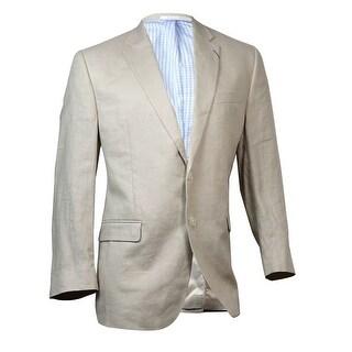 Lauren Ralph Lauren Men's Solid Linen Sport Coat (44R, Tan) - 44r