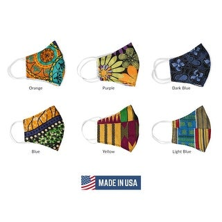 Urban Ethnic African Print Face Mask  Reusable Nose Clip Filter Pocket
