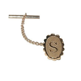 Jaymar Men's Oval Initial Tie Tack in Gold - One Size
