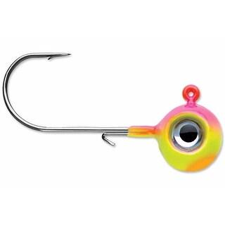 VMC Neon Moon Eye 1/4 Oz. 3D Holographic Jig - 4 Pack - Bubble Gum - Bubble Gum - 1/4 oz.