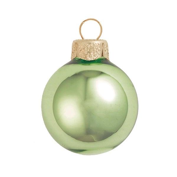 "4ct Shiny Lime Green Glass Ball Christmas Ornaments 4.75"" (120mm)"