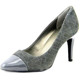 Tahari Ryanna Women Round Toe Suede Gray Heels