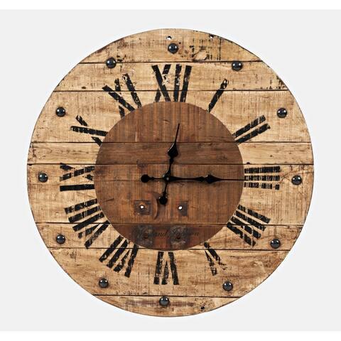 Wayland Jackson Solid Teak 30-inch Clock