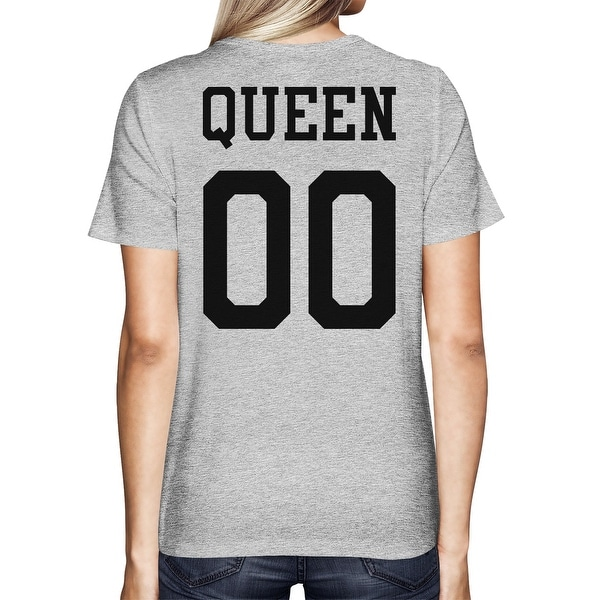 Queen 00 Back Number Grey Matching Tshirt Homecoming Couple Shirt