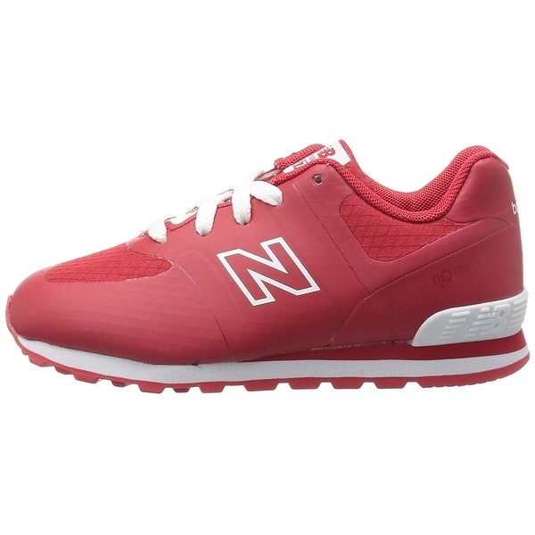 New Balance Baby Girl 574v1 sneaker Leather Lace Up Sneakers - 2w toddler