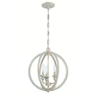 Jeremiah Lighting 1043 3 Light 1 Tier Globe Chandelier - 15 Inches Wide - brushed nickel / clear crystal