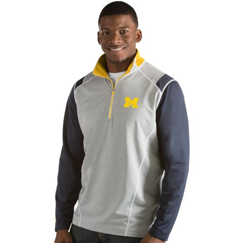 University of Michigan Men's Automatic Half Zip Pullover