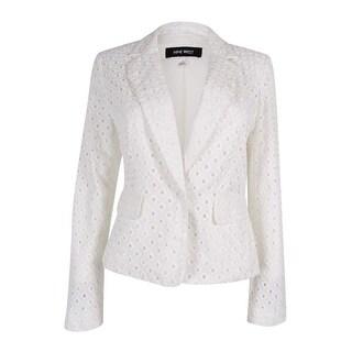 Nine West Women's Eyelet One-Button Jacket - Ivory