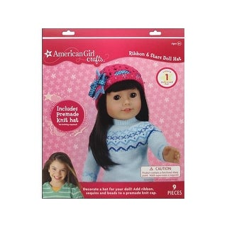 American Girl Kit Ribbon & Star Doll Hat