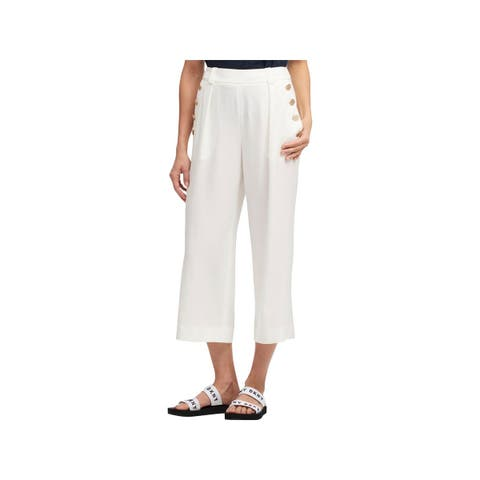 DKNY Womens Sailor Pants Cropped High Rise