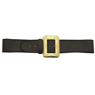 Black and Gold Santa Belt with Cast Buckle  Extra Large