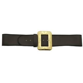 Black and Gold Santa Belt with Cast Buckle  Large