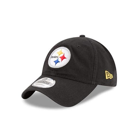 New Era Unise Pittsburgh Steelers Core Classic 9Twenty Adjustable Cap, Adult, Black, Os - Black