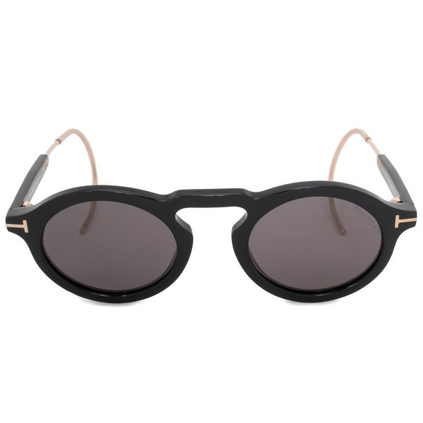 8070de17b759 Shop Tom Ford Grant-02 Oval Sunglasses FT0632 01A 48 - On Sale ...