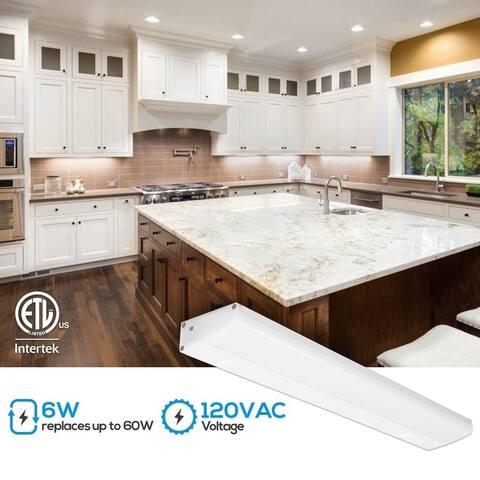 4 Pcs 12 Inch LED Under Cabinet Lighting, 4000K Cool White
