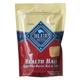 Blue Buffalo Health Bars Dog Biscuits Baked with Bacon Egg and Cheese 16 oz