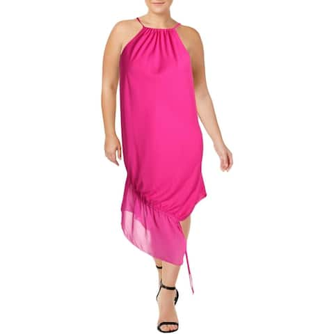 Rachel Rachel Roy Womens Santorini Casual Dress Chiffon Knee-Length