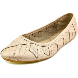 Hush Puppies Emmaline Chaste Round Toe Leather Ballet Flats