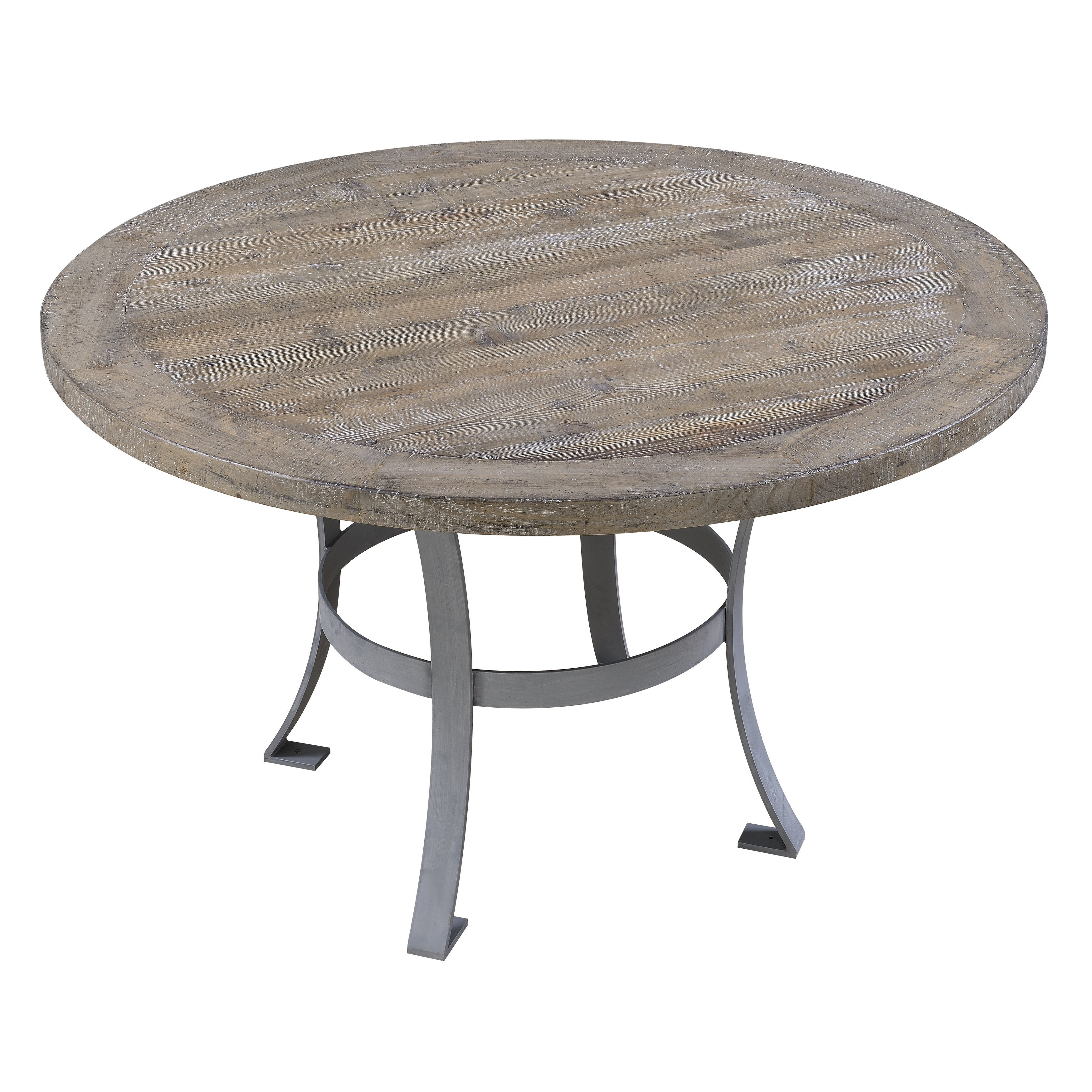 Shop The Gray Barn Sandstone Grey 54 Inch Round Dining Table Overstock 20338770