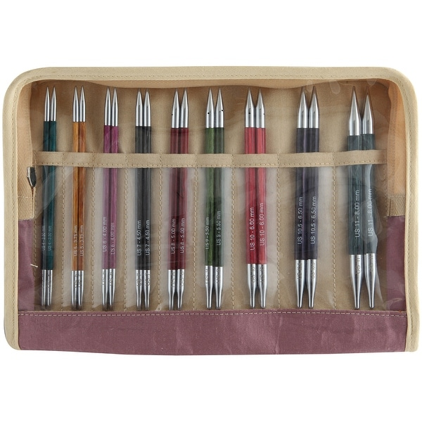 Royale Deluxe Interchangeable Needles Set-Sizes 4/3.5Mm To 11/8Mm