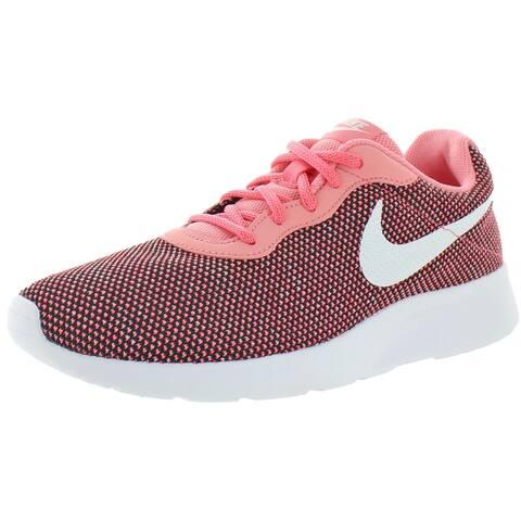 Nike Womens Tanjun Running Shoes Gym Crossfit - Black/White/Pink Gaze