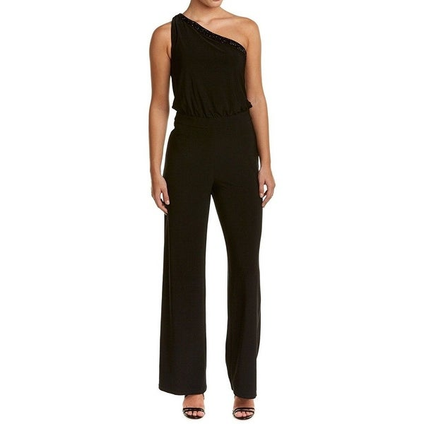 Shop Laundry by Shelli Segal Black Women s 10 One Shoulder Jumpsuit - Free  Shipping On Orders Over  45 - Overstock - 20484622 6a6958d4b5