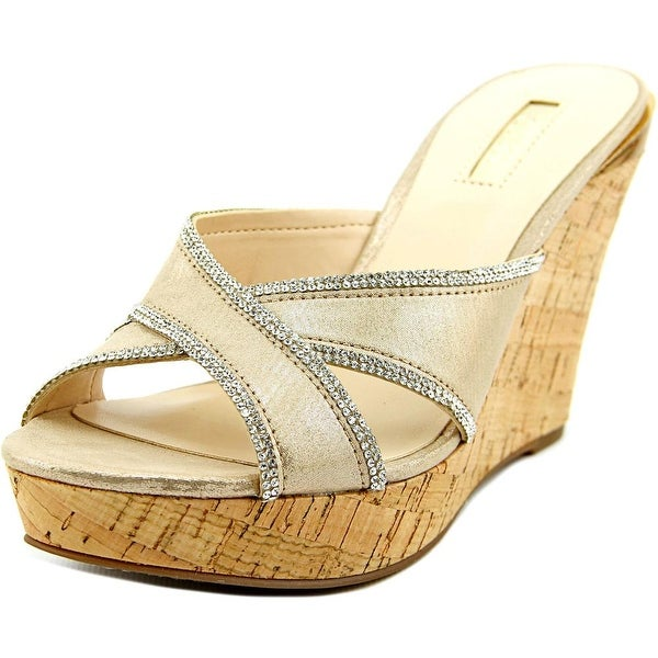 45e6e240dbd Shop Guess Eleonora Open Toe Canvas Wedge Sandal - Free Shipping On ...