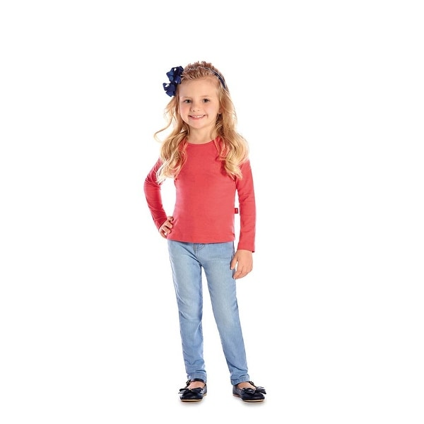 Toddler Girl Long Sleeve T-Shirt Little Girls Classic Tee Pulla Bulla 1-3 Years