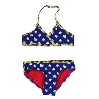Hello Kitty Little Girls' Stars and Stripes Bikini