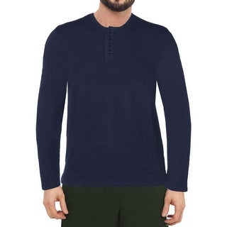 Layer 8 Mens Sleep Shirt Knit Henley