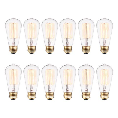 Globe Electric 313242 Pack of (12) 40 Watt Dimmable S60 Medium (E26) Incandescent Light Bulbs