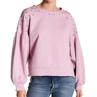 Abound Pink Star Studded Women's Size Large L Scoop Neck Cotton