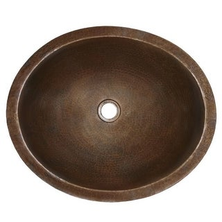 """Native Trails CPS68 Classic 19"""" Copper Undermount Bathroom Sink"""