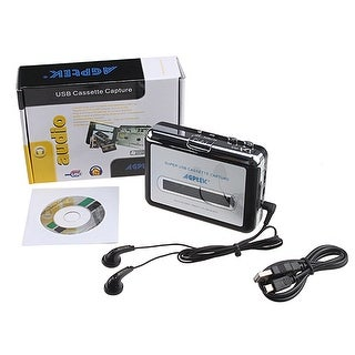 Portable USB 2.0/1.1 Handheld Tape to PC Super USB Cassette-to-MP3 Tape-to-MP3 Player Converter Capture