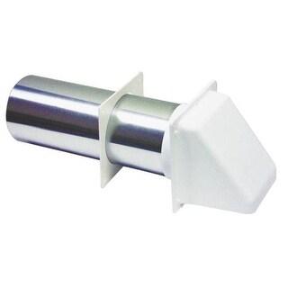 "Lambro 224W Plastic Dryer Vent Hood, White, 4"""