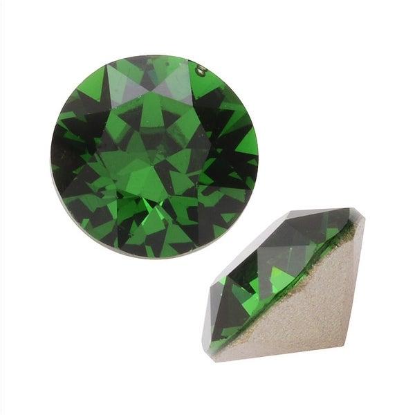 Swarovski Elements Crystal, 1088 Xirius Round Stone Chatons ss29, 12 Pieces, Dark Moss Green F