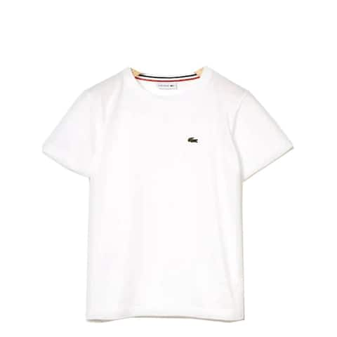 Lacoste White Crew Neck Cotton Jersey Trendy T-shirt Big Boys 8