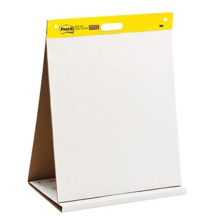 Post-it Self-Stick Easel Pad, 25 x 23 Inches, Unruled, White, 20 Sheets