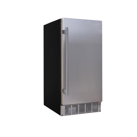 """EdgeStar IB250 15"""" Wide 20 Lb. Built-In Ice Maker with Up to 25 Lbs. Daily Ice Production"""