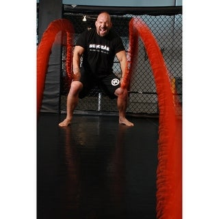Stroops Son of the Beast Battle Ropes - 77 lbs Resistance - Pair - Orange