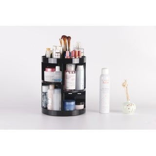 "Kanstar 14"" Acrylic Cosmetic Makeup and Jewelry Storage Display 360 Rotating Makeup Organizer"