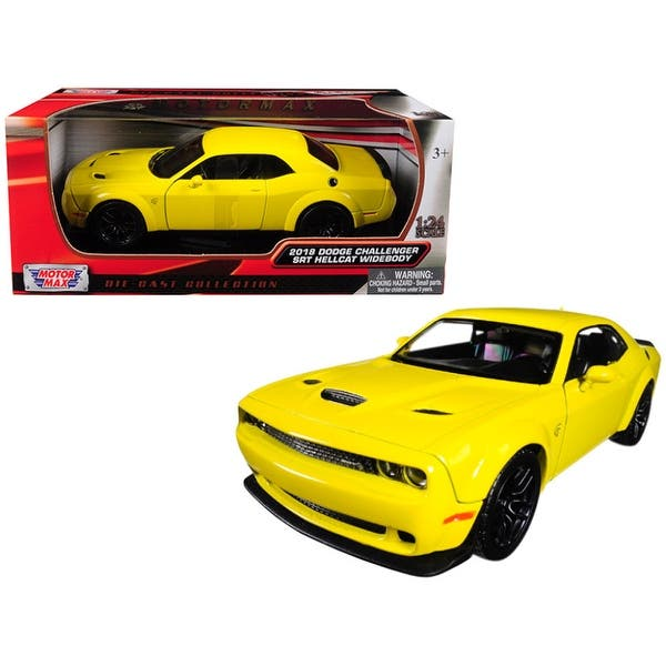 MOTORMAX 2018 DODGE CHALLENGER SRT HELLCAT WIDEBODY 1:24 DIECAST MODEL CAR NEW
