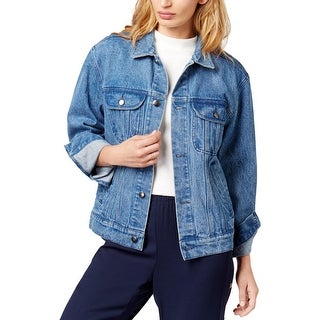 The Style Club Womens Juniors Jean Jacket All Season Denim